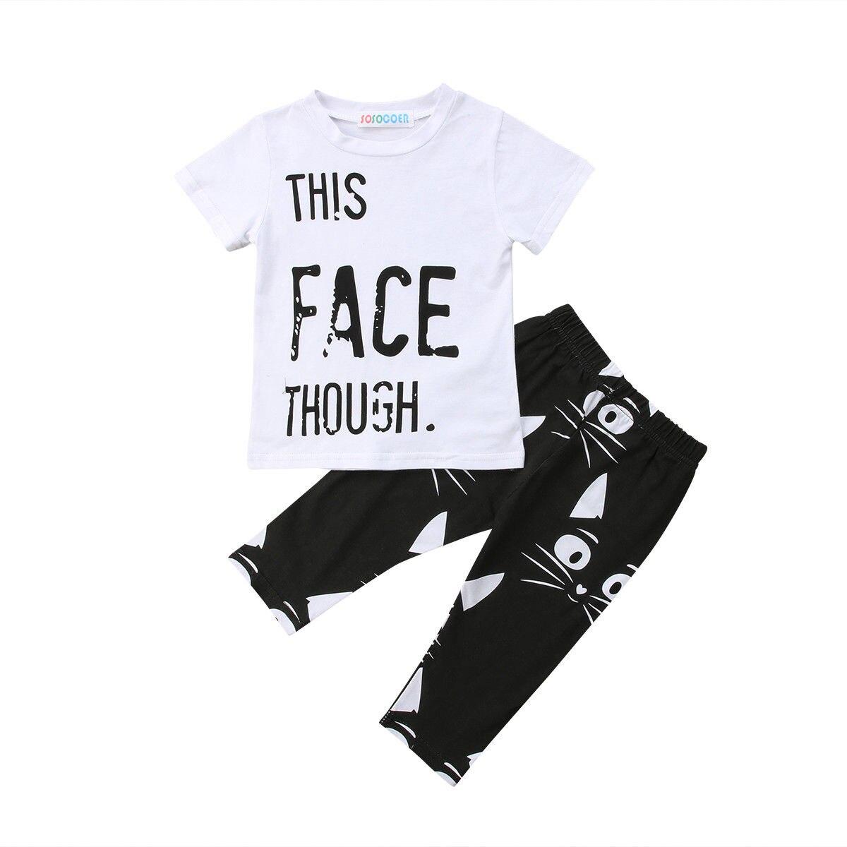 Pudcoco 2 шт. новые одежда для малышей Одежда для мальчиков летние Повседневное футболка + брюки Комплекты одежды с мультяшными рисунками компл...