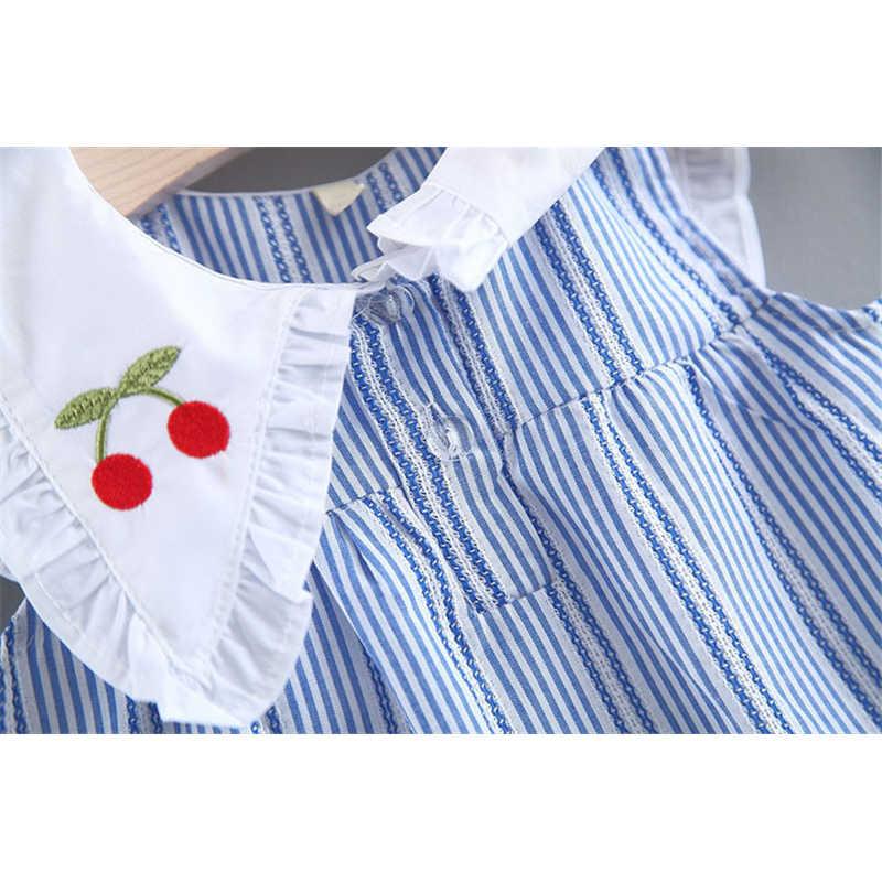 เชอร์รี่ 2019 ฤดูร้อนแฟชั่นทารกแรกเกิดเสื้อผ้าฤดูร้อน bodysuite เสื้อผ้าเด็กวัยหัดเดินเสื้อยืด + กางเกงชุดเด็กทารก 6 เดือน