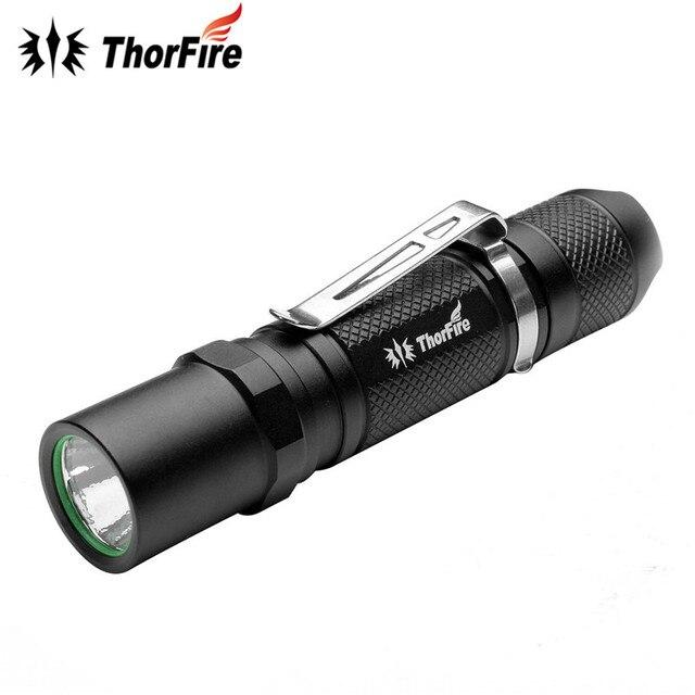 ThorFire TG06S XPG2-R5 Алюминий сплав Тактические 300LM 3 режима мощный светодиодный фонарик 14500 AA Torch Light для кемпинга Рыбалка