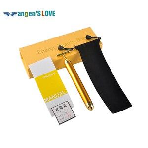 Energy Beauty Bar 24K Gold Pulse Firming Massager Facial Roller Massager Derma Skincare Wrinkle Treatment