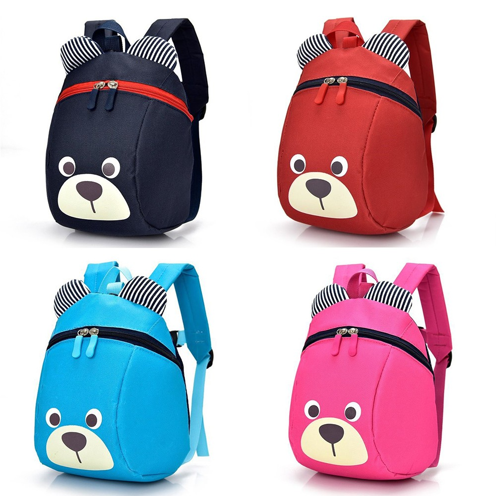 Cartoon Kids School Bags Kindergarten Boys And Girls 1-5 Years Old  Children Backpack 3D Cartoon Lovely Bear School Students Bag