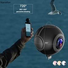 Xiamelon 720 градусов двойной Сферический рыбий глаз панорама Камера VR телефон компаньон одним из ключевых поделиться живой веб-камера