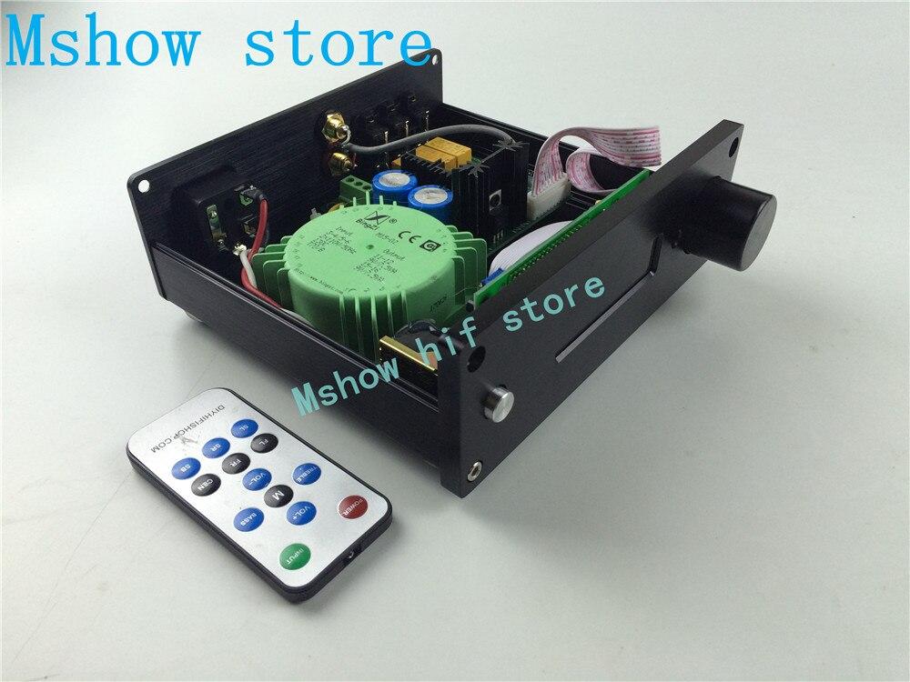 Mshow hifi audio New version PGA2310 DIP8 chip Preamp Stero Remote Volume Controller Pre-amplifier 3 ways input 10pcs ad705jn dip8 new