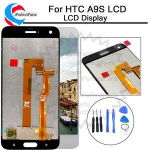 Image 1 - أسود/أبيض 5.0 بوصة استبدال إصلاح أجزاء ل HTC واحد A9S شاشة الكريستال السائل مجموعة المحولات الرقمية لشاشة تعمل بلمس ل HTC A9S LCD + أداة