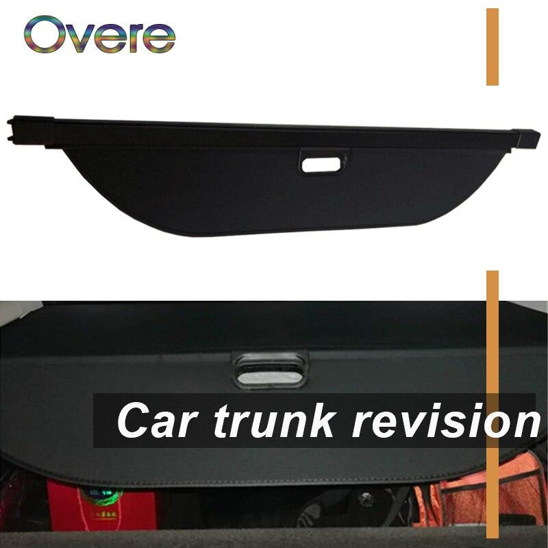Overe 1 set Voiture Coffre Arrière Cache-bagages Pour Land Rover Découverte 5 2017 2018 Style Noir de Sécurité Bouclier Ombre auto accessoires