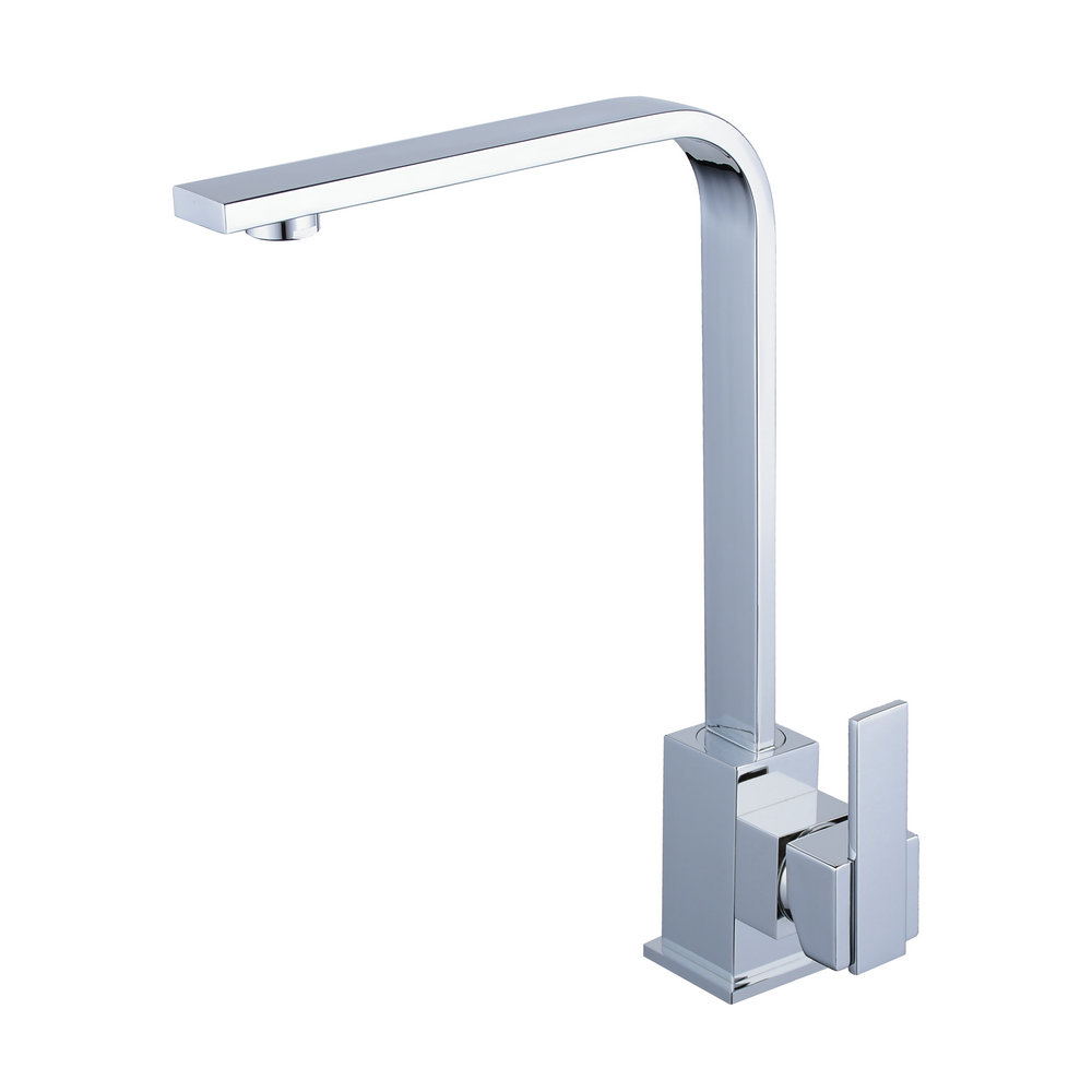 Modern Chrome Single Handle Kitchen Sink Square Faucet Basin Faucet Spout Swivel Sink Cold Hot Mixer Tap Solid Brass Top chrome plated modern handle c c 160mm l 184mm h 23mm drawers cabinets