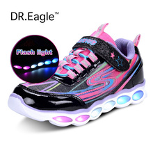Girls Kids Led light up led shoes sport luminous USB charging led shoes children sneakers with
