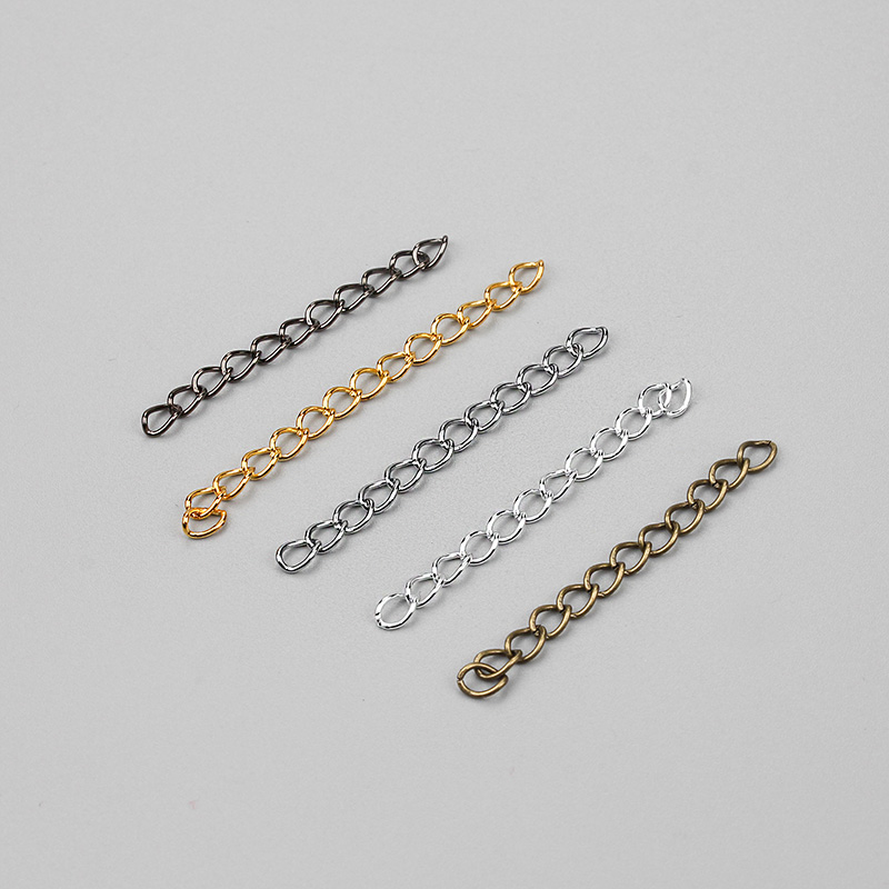 100pcs/lot Extended&Extension Jewelry Chains/Tail Extender For Jewelry Necklace/Bracelet DIY Jewelry Findings
