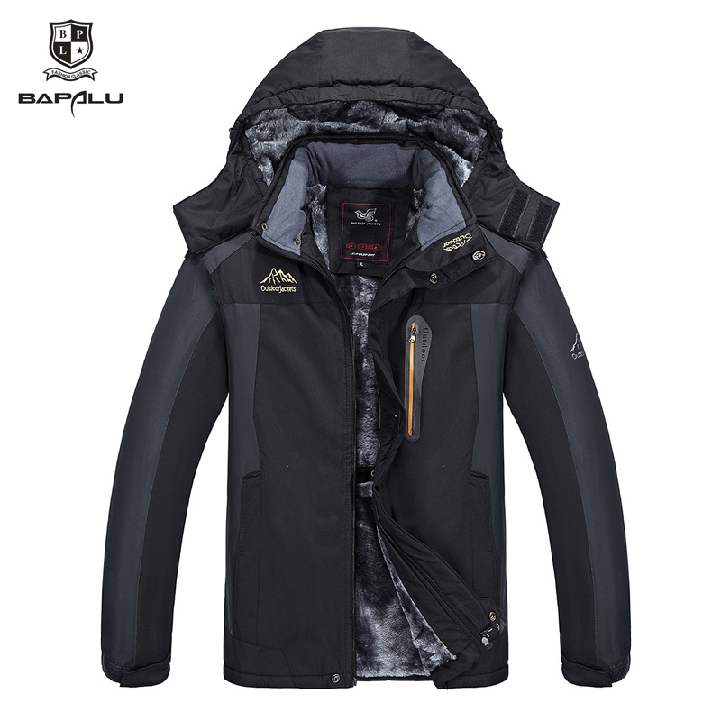 Winter New Large Size 7XL 8XL 9XL Jacket Men Plus Thick Velvet Hooded Windbreaker Coats Men's Casual Warm Jacket Coat Parka