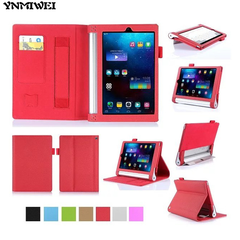 YNMIWEI For Yoga Tab2 830F 830L Tablet Case 8.0 inch Wallet Hand Strap Cover For Lenovo Yoga Tab 3 850F 850M Tablet Leather Case ynmiwei for miix 320 tablet keyboard case for lenovo ideapad miix 320 10 1 leather cover cases wallet case hand holder films