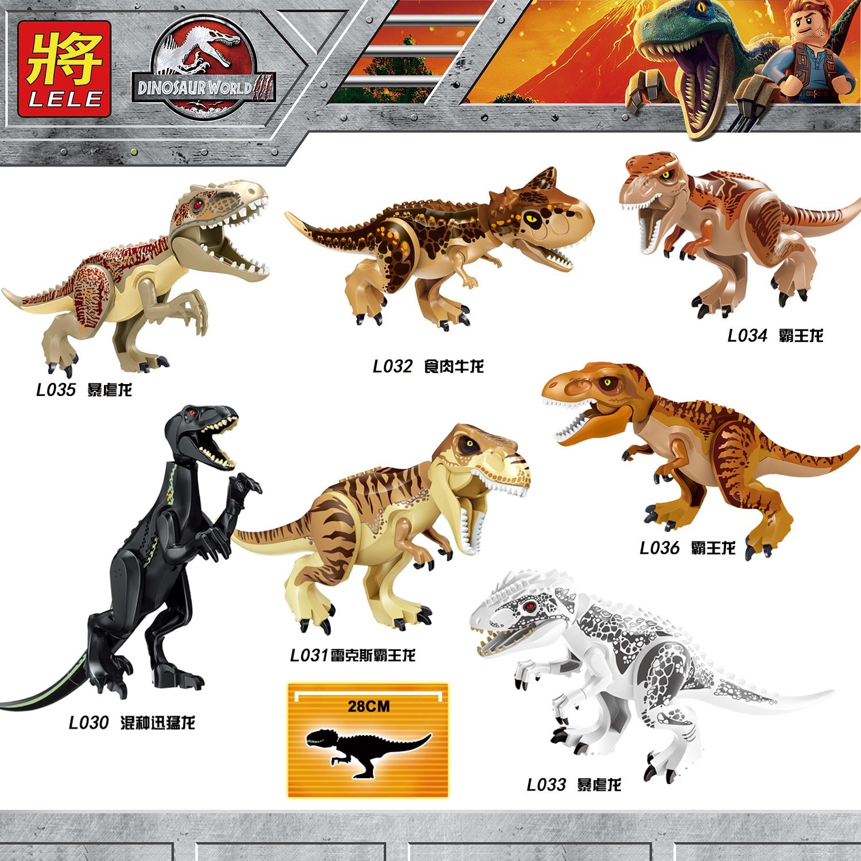 10 PCS/LOT Jurassic World 2 parc dinosaures Indominus Rex tyrannosaures t-rex briques blocs de construction apprentissage cadeau jouets L030-L036