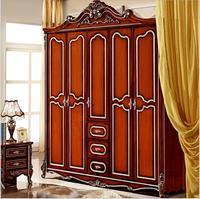 Vijf deur garderobe Antieke Europese hele garderobe Franse landelijke meubels garderobe pfy5001