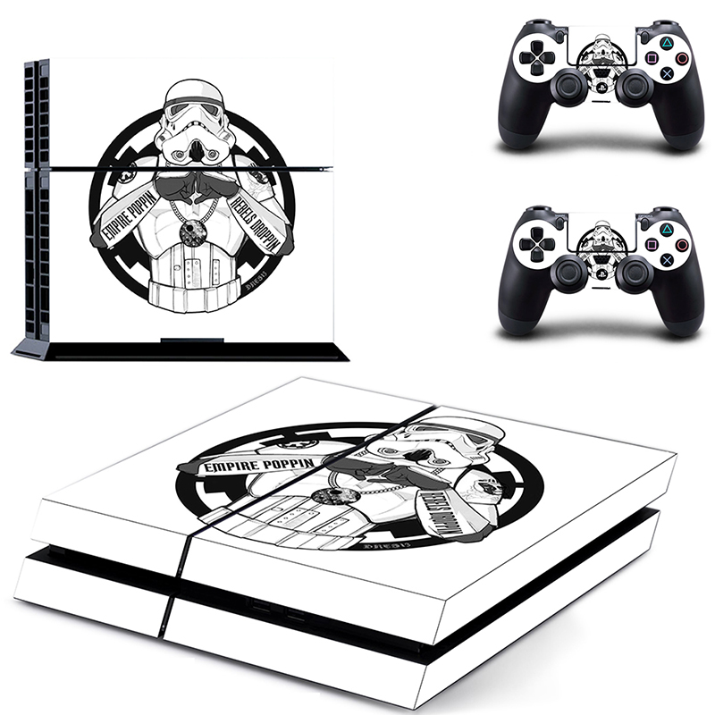 Image 2 - HOMEREALLY Stickers PS4 Skin Classic Star Wars PVC Sticker Cover For Sony Playstation 4 Console and Controller Skin Ps4-in Stickers from Consumer Electronics