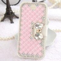 Rosa Luxus Rhinestone-diamant Flip Pu-leder Brieftasche telefonkasten für Samsung Galaxy S6 Rand S6 Anmerkung 4 Anmerkung3 Note2 S5 S4 S3 mini
