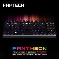 FANTECH MK871 מקלדת משחקי מקלדת מכאנית 87 מפתח מתגים עם תאורה אחורית RGB ארגונומיה הוביל אור כחול גיימר מקצועי