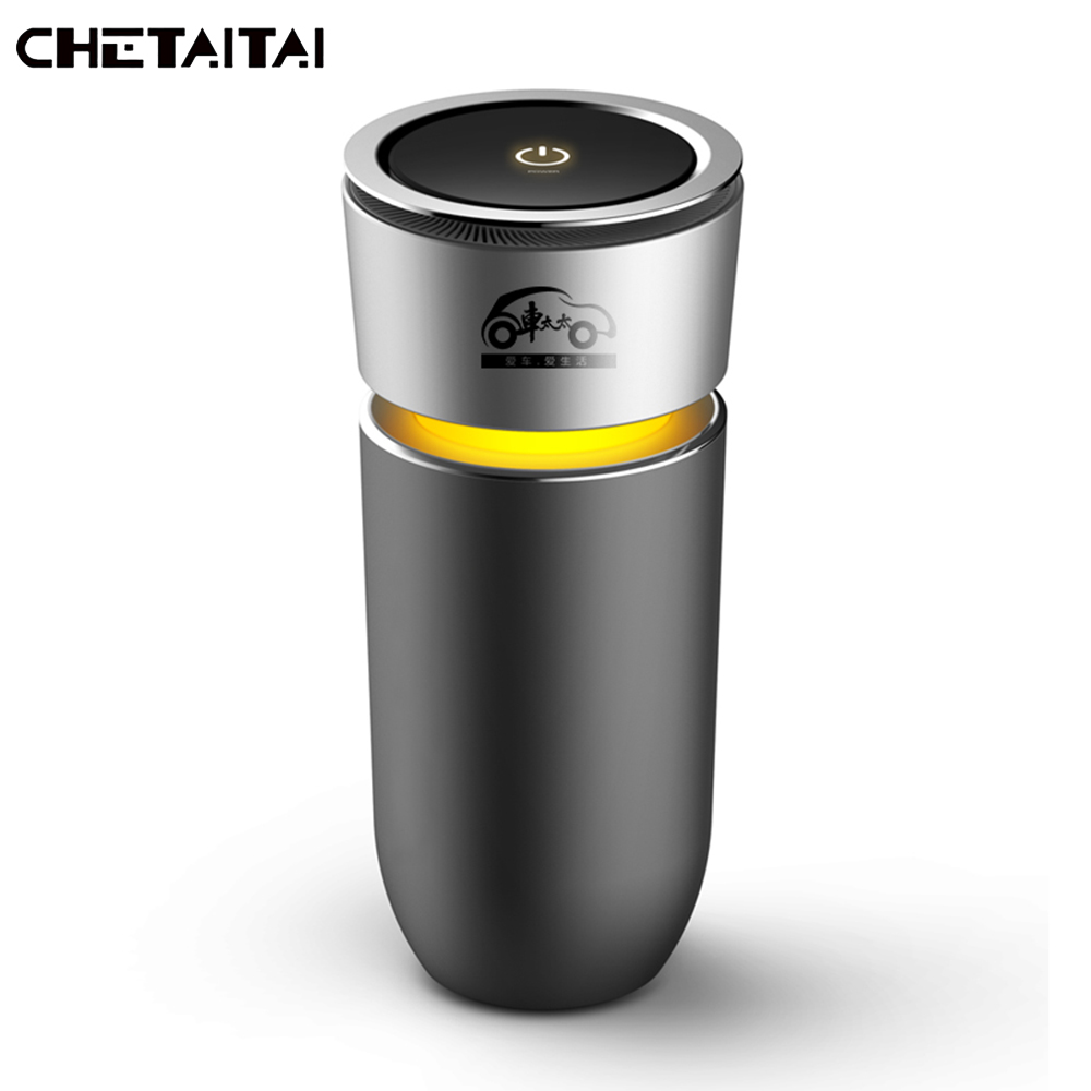 Chetaitai Cup Negative Ions Car Air Humidifier Air Purification Negative Oxygen Ion Car Air Humidifier Mist Maker Car Freshener car outlet perfume air freshener with thermometer lime