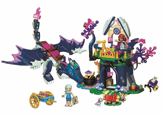 Elves Queen Dragon Rescue 833Pcs Construction Kids Gift Children Building Blocks