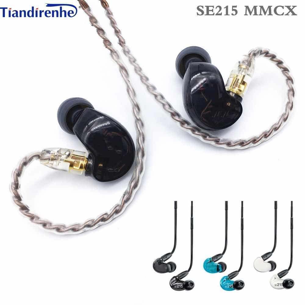 Fast shipping! SE215 Hi-fi stereo Noise Canceling 3.5MM mmcx SE 215 In ear Earphones With Separate Cable headset  Subwoofer
