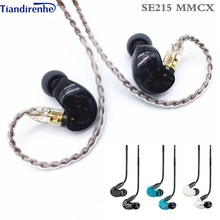 Fast shipping! SE215 Hi fi stereo Noise Canceling 3.5MM mmcx SE 215 In ear Earphones With Separate Cable headset  Subwoofer