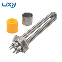 LJXH DN32 All Stainless Steel 304 Electric Immersion Water Heater Heating Element With 220V380V 3KW 4