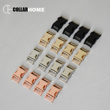 20pcs Strong plated side release metal belt buckle snap hook 5/8 Inch(15mm) DIY dog pet collar backpack accessories 4 colors
