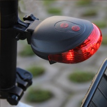 Hot Sale Waterproof Bicycle Light Bike Cycling Lights  (5LED+2Laser) Taillight Safety Warning Rear Tail Lamp