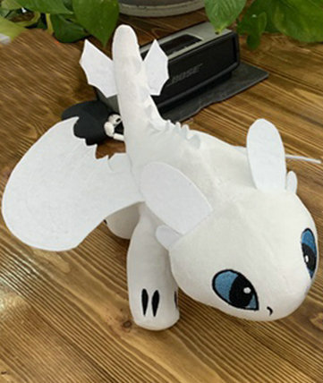 35cm How to Train your Dragon Night Fury Black Flying Dragon Toothless Anime Film Doll toys for Boy Light Fury Stuffed Toys