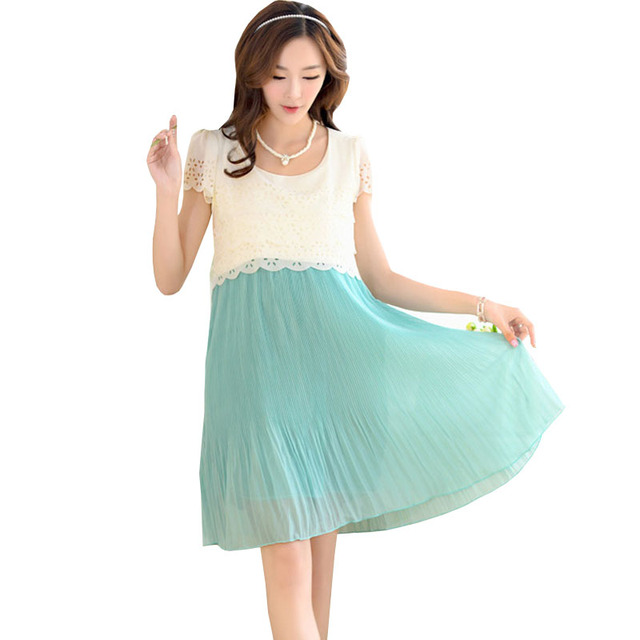 26146cf55 Vestido de maternidad de enfermería para las mujeres embarazadas ropa de  verano 2019 de la gasa