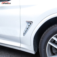 Car Styling For Bmw X3 G01 2018 2019 Exterior Accessories Outer Side Wing Fender Air Vent Cover Trim Abs Chrome Car Sticker 2pcs