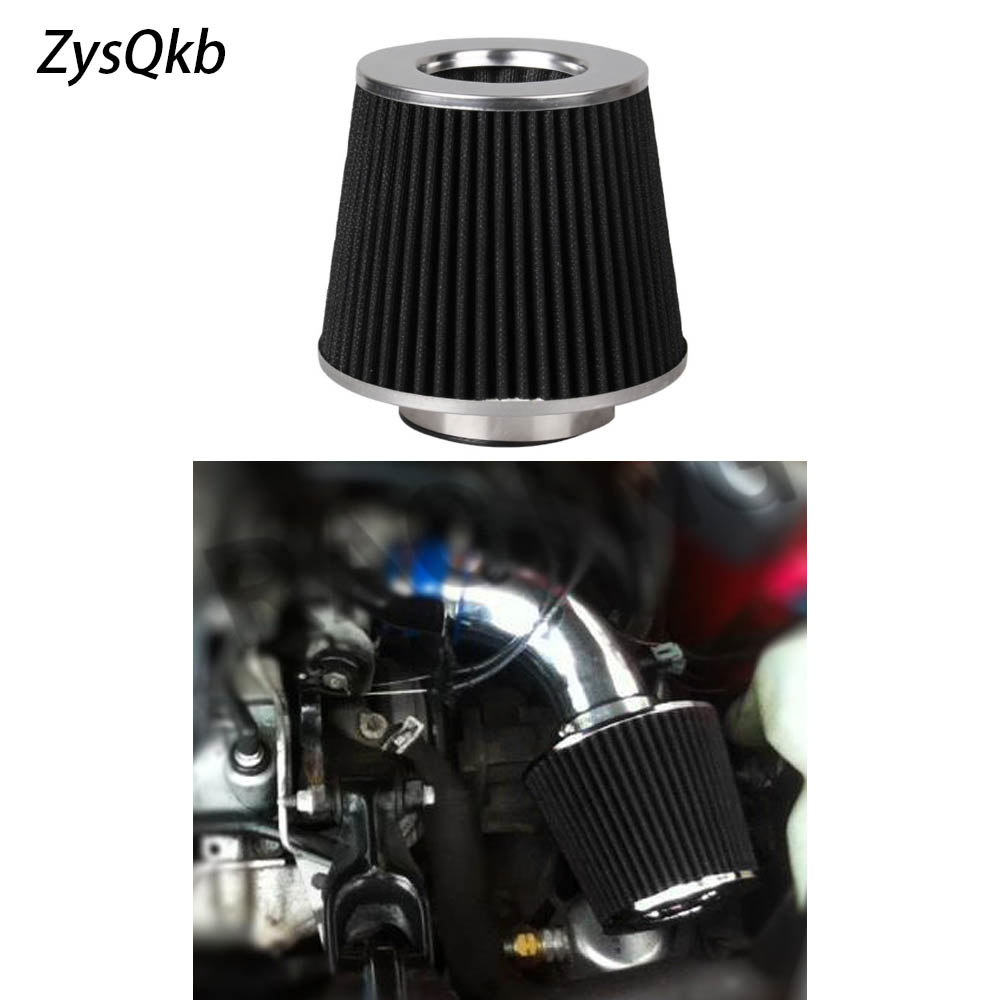 Black 3in Air Filter Flow Cold Air Intake For Universal Vehicle 155mm Height