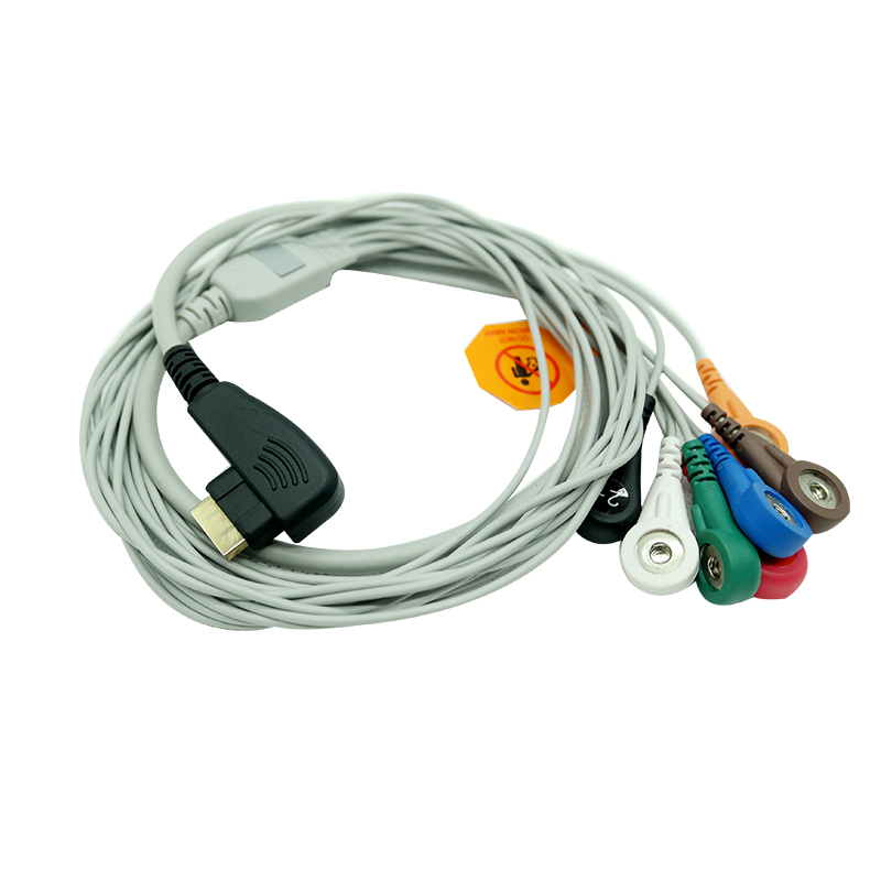 холтер дмс - DMS 300 series Compatible ECG Holter Cable 7 Leads AHA Snap Leadwires