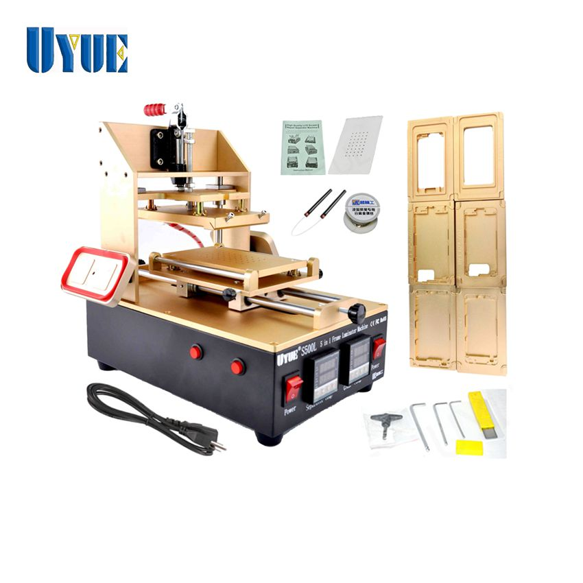 5 in 1 LCD Separator machine = for Bezel Samsung Middle Frame+for iPhone Frame Laminator+Vacuum LCD Separator+Glue Remove 3 in 1 multifunction preheater station middle bezel frame separator machine vacuum screen separator machine