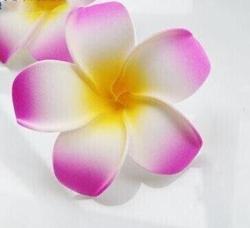 6 см Искусственный Плюмерия acutifolia PE Франгипани цветы, Рождественские Свадебные украшения орнамент, реквизит для фотографий, 200 шт - Цвет: A