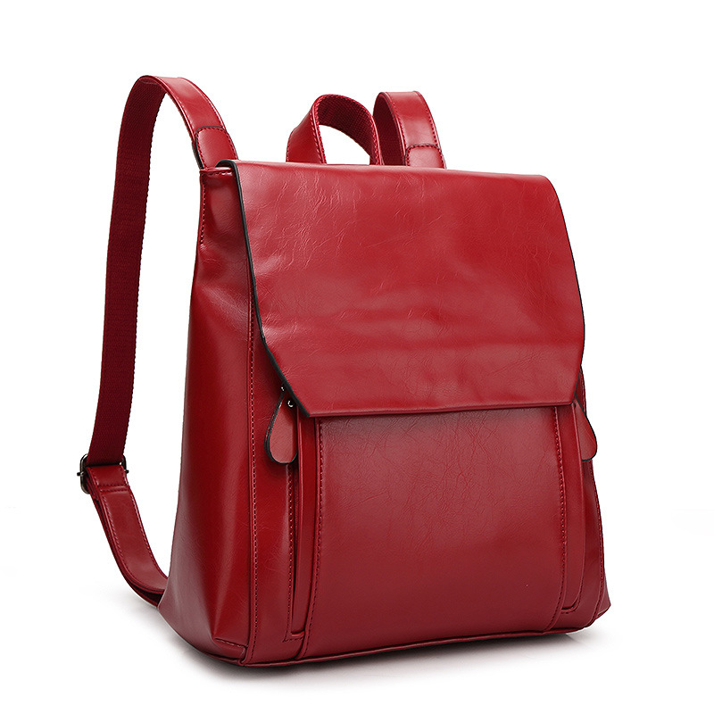 MONNET CAUTHY Womens Bags Classic Concise Leisure New Fashion Backpack Solid Color Black Blue Brown Army Green and Wine Red Bag