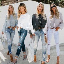 S-XL o neck long sleeve t shirt tops spring autumn casual leisure pure color style holiday