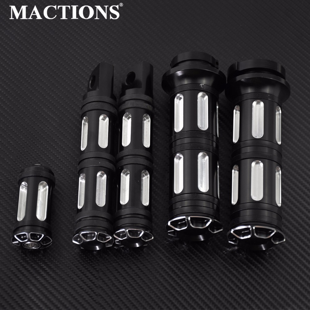 Motorcycle CNC Grips + Footrest Foot Pegs + Shift Nails Aluminum For Harley Sportster Touring Dyna Softail Custom