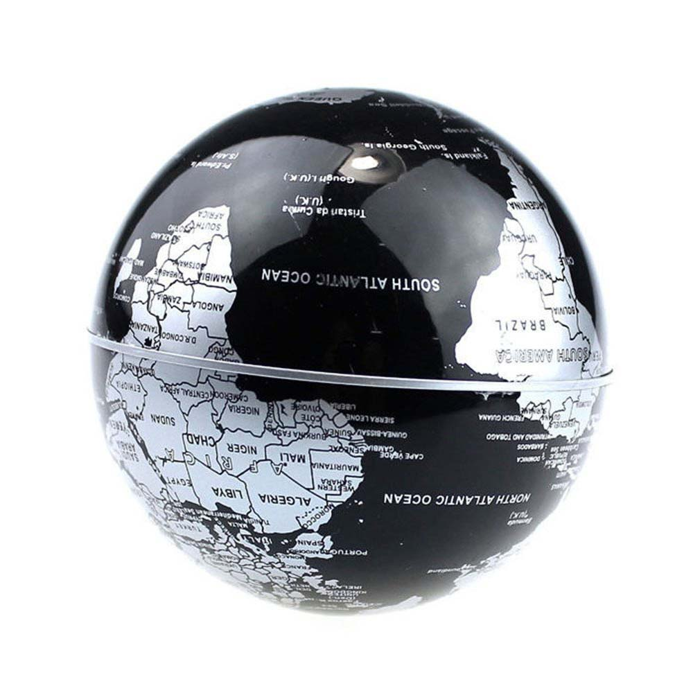 Globe World Map black