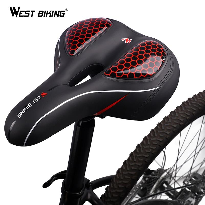 MTB Saddle Mountain Bike Saddle Seat Bicycle Cruiser Comfort With Taillight US