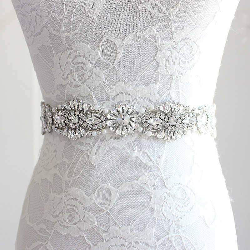 Buy wedding bridal sash belt crystal for Wedding dress accessories belt