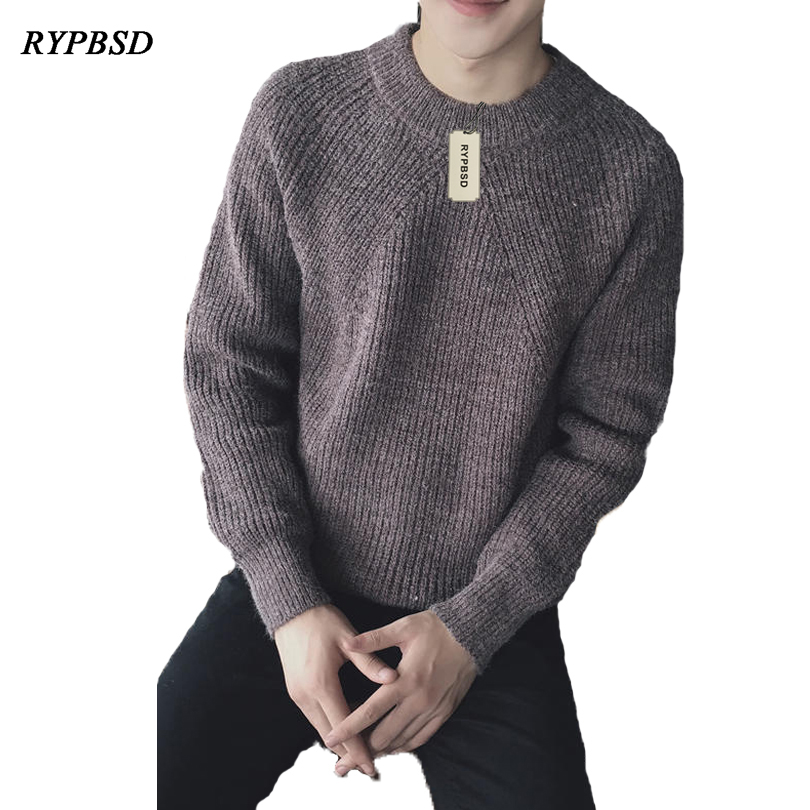 Japanese Style Round Neck Collar Long Sleeve font b Sweater b font font b Men b