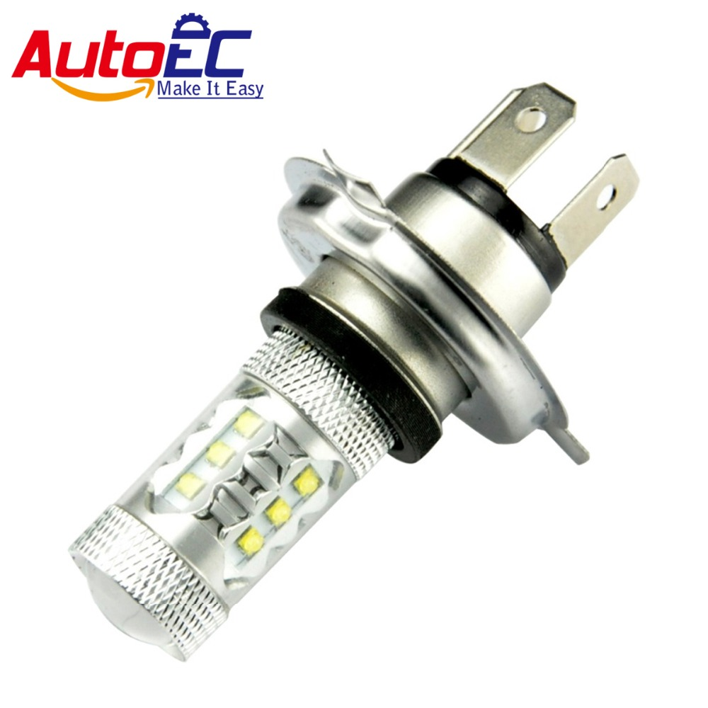 AutoEC 2pcs H4 9003 HB2 80W <font><b>16</b></font> <font><b>LED</b></font> Super Bright High Power Automobiles headlight <font><b>Fog</b></font> Light DRL Front Daytime Running <font><b>Lamps</b></font> #LJ27 image