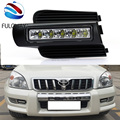 LED Daytime Running Light For Toyota Prado 120 LC120 GRJ120 2003 to 2009 Fog Lamp DRL Bumper Light Accessories Parts Car-Styling
