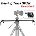 """New Professional 60 cm/24 """"Rolamento Sistema Estabilizador de Câmera de Vídeo Trilha Slider Dolly para DSLR Camcorder Melhor Do Que deslizante-pad"""