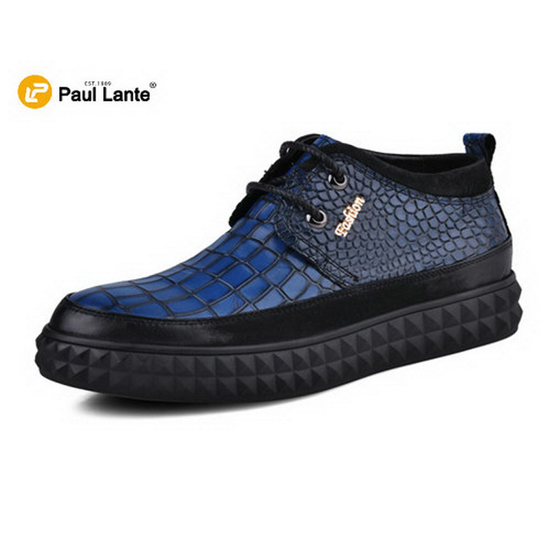 ФОТО Newest Best Winter Boot For Men's Cusal Crocodile Genuine Leather Fur Moccasin Warm Snow Ankle Boots Brogue Winter Men Fur Shoes