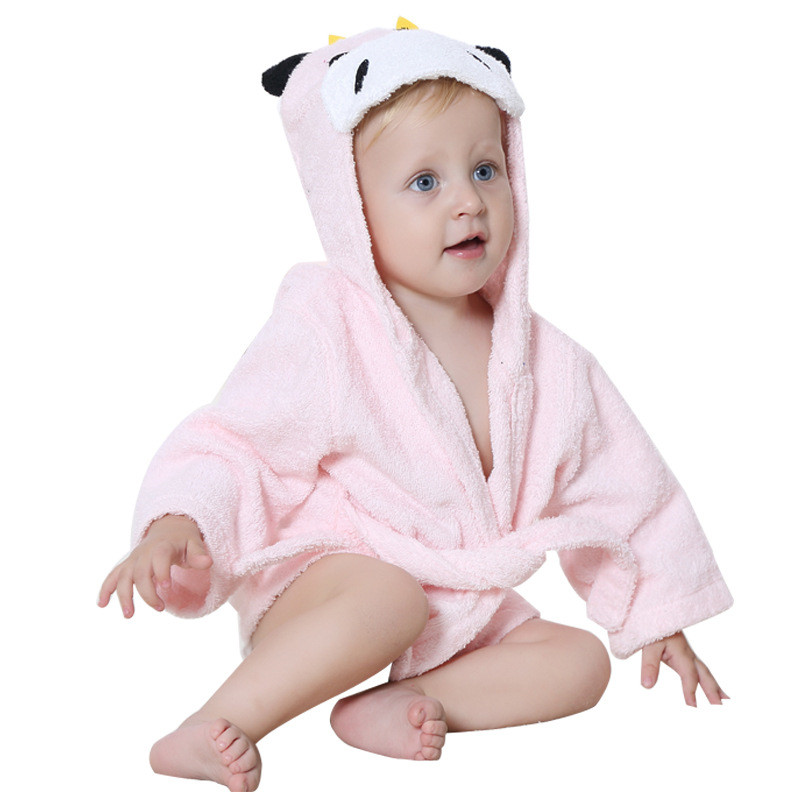 Cartoon Hooded Baby Blanket Pijamas Infantil Robe Autumn Winter Newborn Albornoz Bath Peignoir Boy Girl Bathrobe Kids Clothes