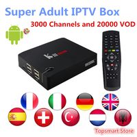 MECOOL KIII PRO 3G/16G Android&DVB S2/T2 Set top IPTV Box Arabic France UK Italy 3000 Live&20000 vod Adult XXX smart tv box