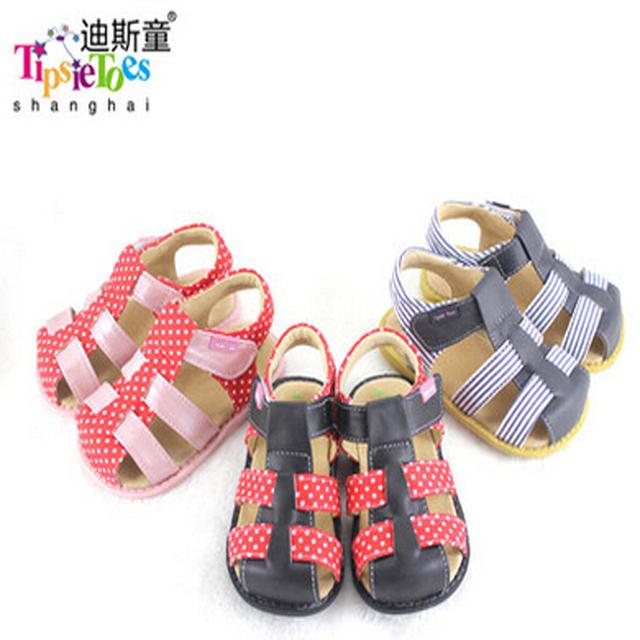 Tipsietoes Brand 2016 zapatos sandalias de piel de oveja suave fresco respirable cómodo niños y zapatos de los niños masculinos 21032