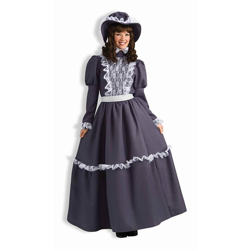 New M L Lace Front Halloween Cosplay Maid Costume Long Sleeve Role-Playing Games French Maid Costume Women Maid Outfit