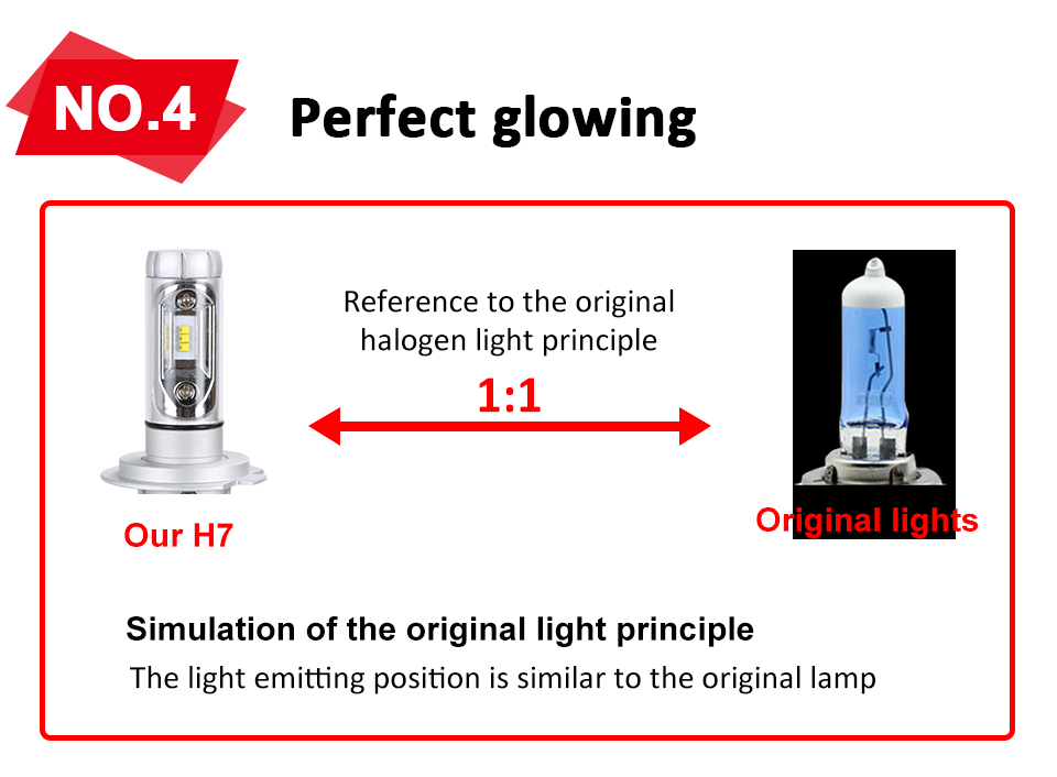 Aceersun X3 Series Fanless 50W H7 LED Car Headlight Bulbs WhiteAmber 6000lm H7 Auto Headlamp LED Car Bulb 12V 3000K6500K8000K (7)