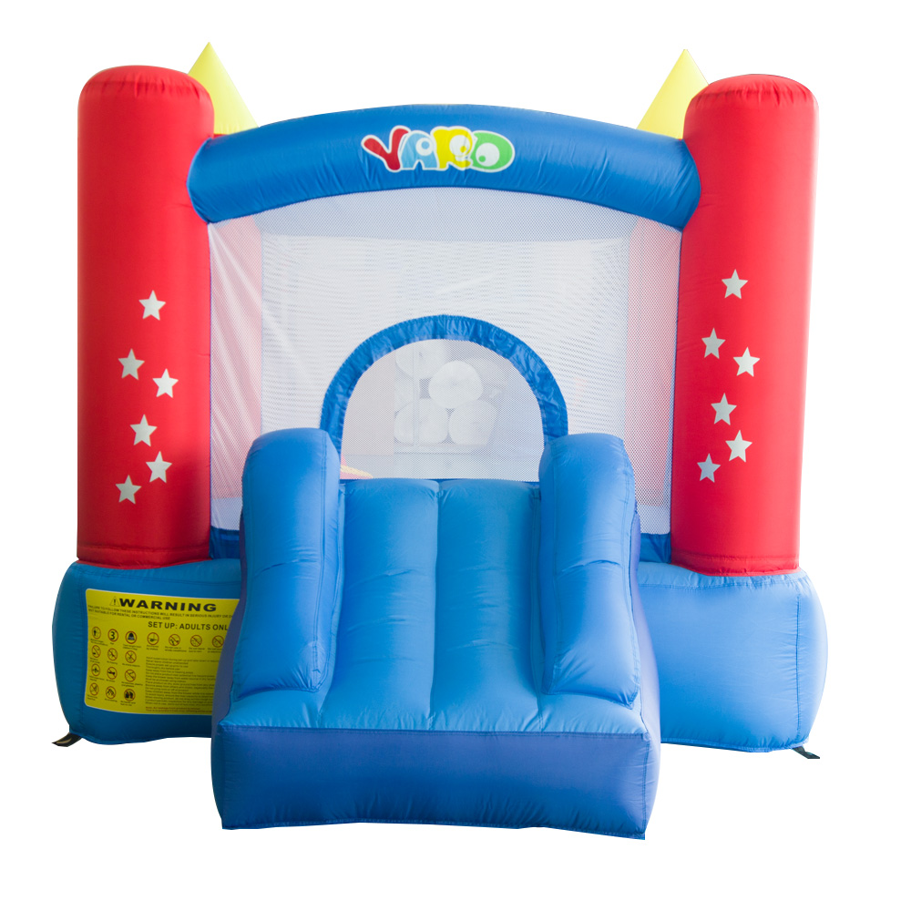 YARD Backyard Kids Mini Nylon Bounce House Inflatable Bouncer Bouncy Castle Jumping Castle with Slide and Blower for Home Use yard bouncy castle inflatable jumping castles trampoline for children bounce house inflatable bouncer smooth slide with blower
